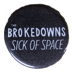 Sick of Space Button - Logo