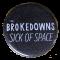 Sick of Space Button - Logo